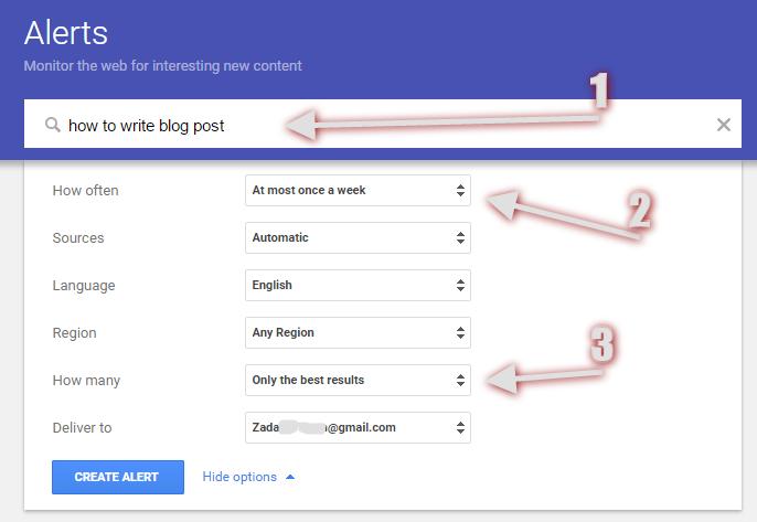 Build a Succesful Blog - Google Alert