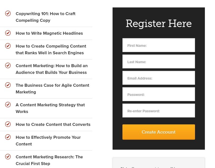 Build a Succesful Blog - Register