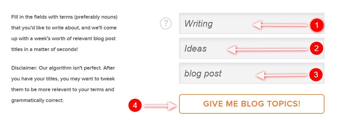 Build a Succesful Blog - Idea list