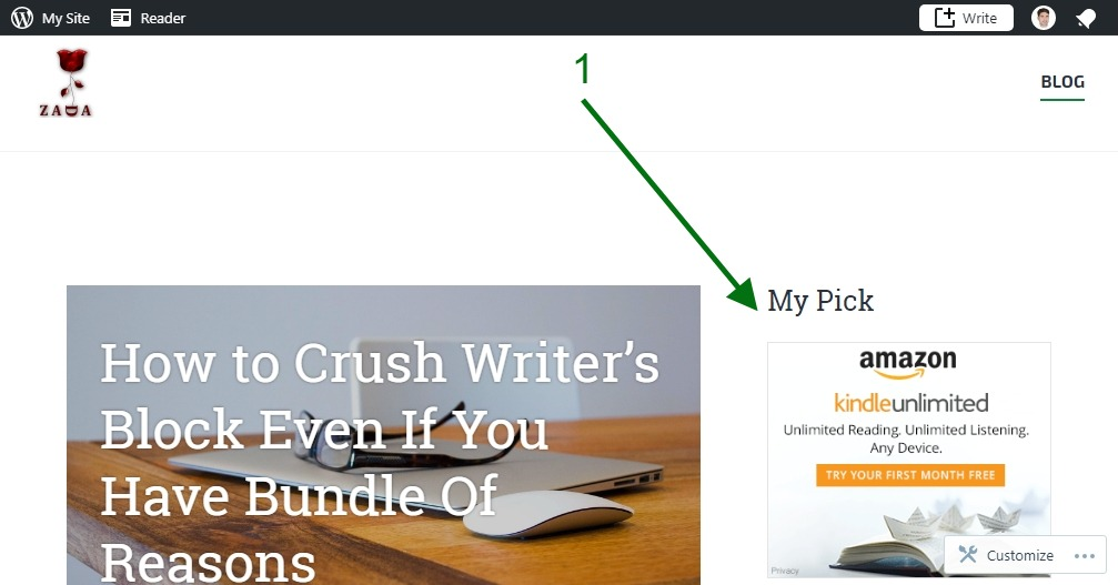 Build a Succesful Blog - My Pick Amazon products