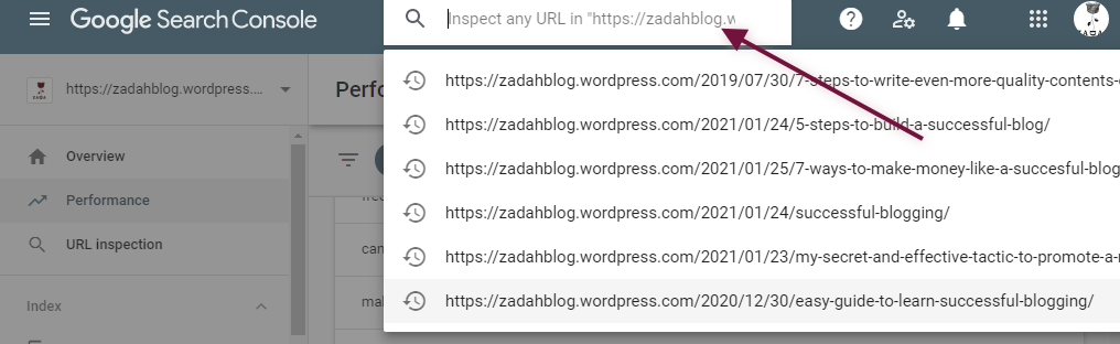 expert bloggers url inspection search console