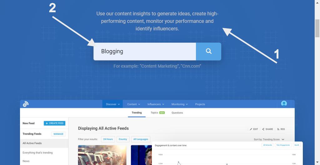 Build a Succesful Blog - keywords in buzzsumo