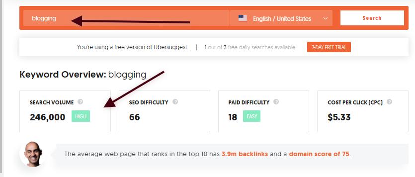 expert blogger ubersuggest