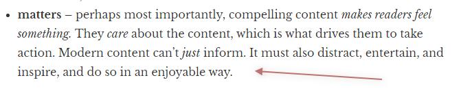 neil patel describe compelling content