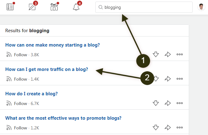 how to get more traffic from quora